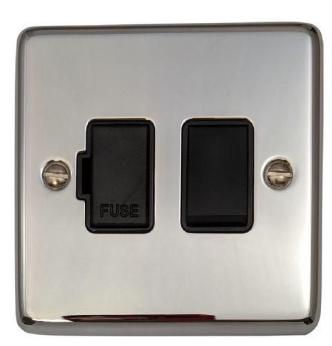 G&H CC57B Standard Plate Polished Chrome 1 Gang Fused Spur 13A Switched